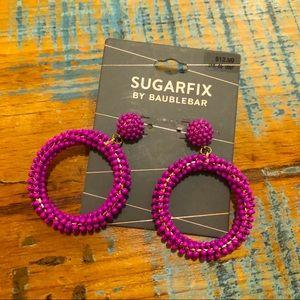 Baublebar Sugar Fix Purple Beaded Earrings